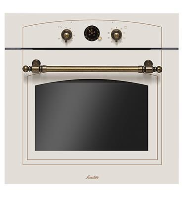 תנור בנוי בעיצוב רטרו הלכתי לשבת 65.5 ליטר צבע קרם מט תוצרת SAUTER דגם RUSTIC 4000C
