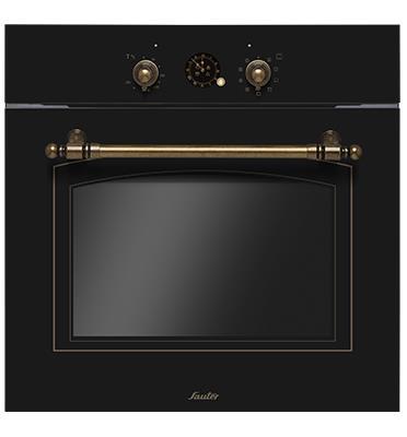 תנור בנוי בעיצוב רטרו הלכתי לשבת 65.5 ליטר צבע שחור גרפיטי תוצרת SAUTER דגם RUSTIC 4000B