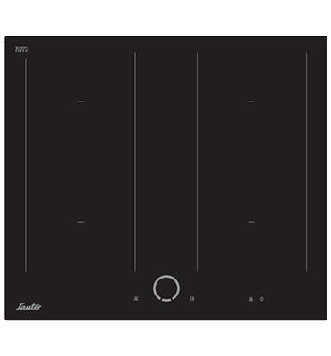 כיריים אינדוקציה עם שני מוקדי Flexi-Zone מלבניים ארוכים תוצרת SAUTER דגם SIH6080B PRO