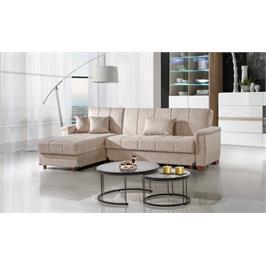 מערכת ישיבה שזלונג מרהיבה בעיצוב אירופאי יוקרתי נפתח למיטות מבית LEONARDO דגם איתמר