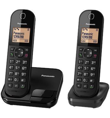 טלפון אלחוטי + שלוחה 1 צג 1.6 אינץ Eco Mode להפחתת עוצמת השידור תוצרת PANASONIC דגם KX-TGC412MB