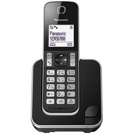 טלפון אלחוטי צג 1.8 אינץ תפריט בעברית כפתור HOLD צבע שחור תוצרת PANASONIC דגם KX-TGD310MBB
