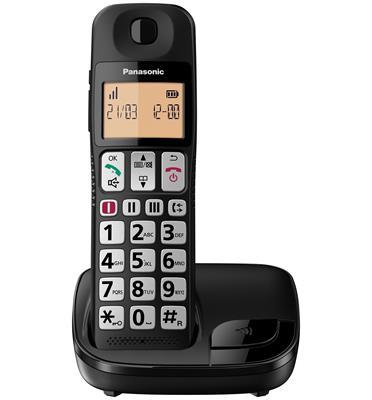 טלפון אלחוטי צג מואר 1.8 אינץ עם מקשים גדולים ושמע מוגבר תוצרת PANASONIC דגם KX-TGE110