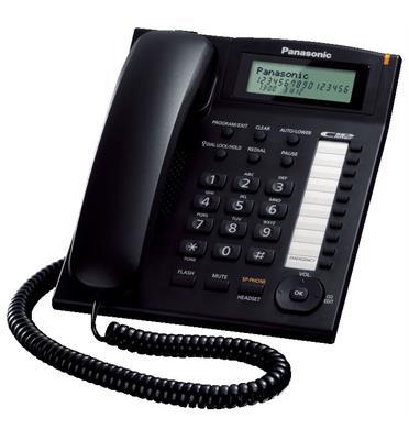 טלפון שולחני חכם צג שיחה ממתינה מזוהה אידיאלי למשרדים ולעבודה תוצרת PANASONIC דגם KX-TS880MX
