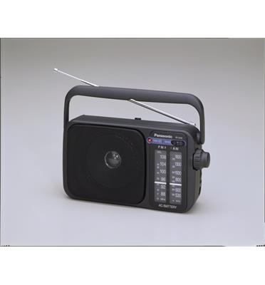 רדיו אנלוגי 0.77 וואט נייד לשימוש במשרד בבית ובטבע תוצרת PANASONIC דגם RF-2400D