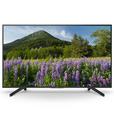 """טלוויזית 49"""" 4K SMART TV בעיצוב SLIM BEZEL תוצרת SONY דגם KD-49XF7096BAEP מתצוגה"""