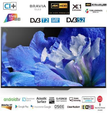 "טלויזיה ""65 4K BRAVIA OLED Android TV תוצרת SONY. דגם KD-65AF8BAEP מתצוגה"