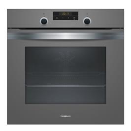 תנור אפיה בנוי 71 ליטר 7 תוכניות בישול אפיה בגימור זכוכית אפורה תוצרת CONSTRUCRA דגם CF4M63070Y