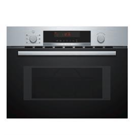 """תנור משולב מיקרו בגובה 45 ס""""מ 5 תוכניות בישול ואפיה נירוסטה תוצרת BOSCH דגם CMA583MS0"""