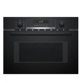 """תנור משולב מיקרו בגובה 45 ס""""מ 5 תוכניות בישול ואפיה צבע שחור תוצרת BOSCH דגם CMA585MB0"""
