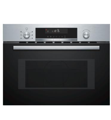 """תנור משולב מיקרו בגובה 45 ס""""מ 5 תוכניות בישול ואפיה צבע נירוסטה תוצרת BOSCH דגם CMA585MS0"""