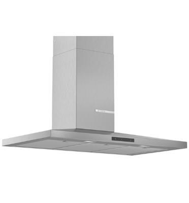 """קולט אדים צמוד קיר 90 ס""""מ בעיצוב פירמידה נמוכה נירוסטה תוצרת BOSCH דגם DWQ96DM50"""