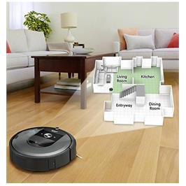 שואב אבק רובוטי טכנולוגיית המיפוי החכם Imprint ישום iRobot HOME  תוצרת IROBOT דגם ROOMBA i7
