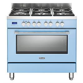 תנור אפייה משולב כיריים מפואר 6 להבות 8 תוכניות לאפיה גימור תכלת תוצרת DELONGHI דגם NDS981T