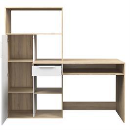 עמדת עבודה עם שולחן כתיבה וספרייה תוצרת HOME DECOR דגם אופק
