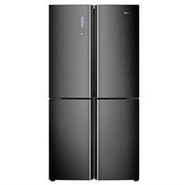 מקרר 4 דלתות מקפיא תחתון NO FORST נירוסטה מוברשת שחורה 585 ליטר תוצרת HISENSE דגם RQ68WC4SHAB
