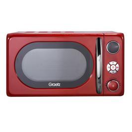 מיקרוגל דיגטלי 20 ליטר 700 וואט 8 מצבי עבודה בעיצוב רטרו צבע אדום תוצרת GRAETZ דגם MW453