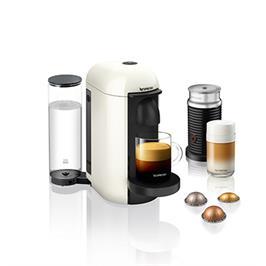 מכונת קפה VertuoPlus מבית NESPRESSO דגם A3GCB2-IL-WH-NE בגוון לבן כולל מקציף חלב אירוצי'נו