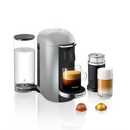 מכונת קפה VertuoPlus מבית NESPRESSO דגם A3GCB2-IL-SI-NE בגוון כסוף כולל מקציף חלב אירוצי'נו