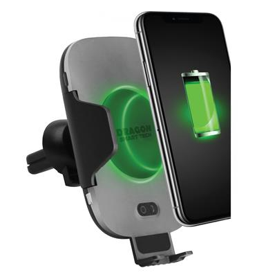"""זרוע אונברסלי חכם לטלפון מופעל אוטומטית ע""""י חיישן תנועה + טעינה אלחוטית CAR SMART CLAMP"""