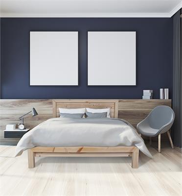 מיטה זוגית מעוצבת מעץ אורן מלא + מזרן קפיצים מתנה מבית אולמפיה דגם 5022