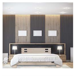 מיטה זוגית מעץ מלא דגם פרפר + מזרן מתנה מבית אולימפיה דגם 5023