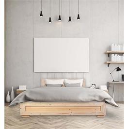 מיטה זוגית מעץ מלא + מזרן מתנה מבית אולימפיה דגם 5024