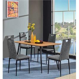 פינת אוכל בעיצוב נקי מעץ כולל 4 כסאות בעיצוב וינטאג' תוצרת GAROX דגם COSTA