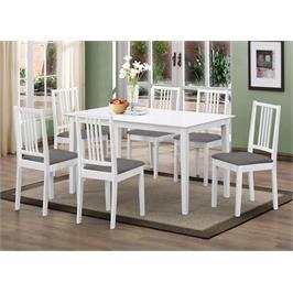 פינת אוכל מעץ עיצוב נקי של שולחן ו4 כסאות עם ריפוד תוצרת GAROX דגם MONA
