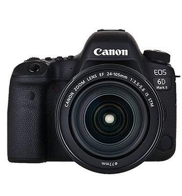 "מצלמה 3"" רפקלס DSLR 26.2MP תוצרת CANON דגם EOS 6D MARK II + קיט עדשה 24-105 יבואן רשמי קרט!"