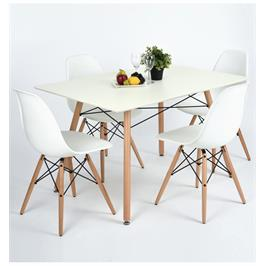 פינת אוכל שולחן כולל 4 כסאות מודרנית, פרקטי ומשתלמת מבית HOMAX דגם לונדון לבן