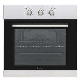 תנור אפייה בנוי מכני 65 ליטר 6 תוכניות אפיה נירוסטה זכוכית כפולה תוצרת LENCO דגם LBIM65VIX