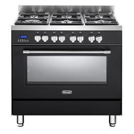 תנור אפייה משולב כיריים מפואר 6 להבות 8 תוכניות לאפיה גימור שחור תוצרת DELONGHI דגם NDS981AN
