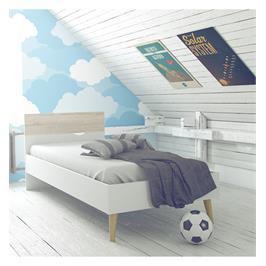 מיטת יחיד מעוצבת איכות וגימורים מעולים בסטנדרטים אירופאיים תוצרת דנמרק מבית HOME DECOR דגם דלתא