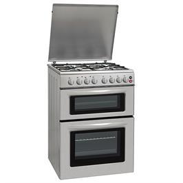 """תנור אפייה 60 ס""""מ דו תאי משולב גז 4 מבערים הכשר בד""""ץ העדה החרדית נירוסטה תוצרת LENCO דגם LDOV60"""