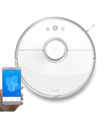 """שואב אבק רובוטי שליטה חכמה ע""""י WI FI מרחוק 13 חיישנים למיפוי הבית תוצרת Roborock דגם S50"""
