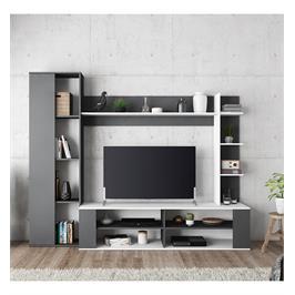 מערכת קיר לסלון עם מקום אחסון רב ופתח לטלוויזיה תוצרת צרפת מבית HOME DECOR דגם קפיטל