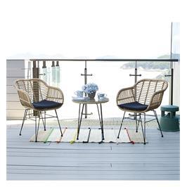 סט ביסטרו זוגי לישיבה נינוחה במרפסת או בגינה מבית HOME DECOR דגם לילך