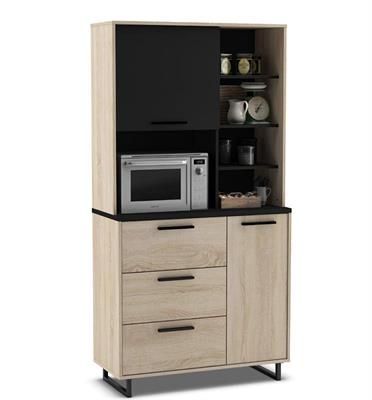 ארון שירות למטבח עם תא למיקרוגל תוצרת צרפת מבית HOME DECOR דגם אינדי