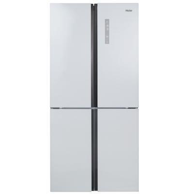 מקרר 4 דלתות No Frost גימור זכוכית לבנה 547 ליטר תוצרת HAIER דגם HRF555FW