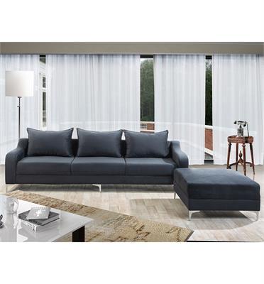 מערכת ישיבה מרשימה ונוחה בעלת שילד מעץ מלא ובד Panama עבה ונעים תוצרת LEONARDO דגם סוזן