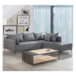 מערכת ישיבה פינתית ונוחה בעלת שילדה מעץ מלא ובד ראשיל איכותי וקל לניקוי תוצרת LEONARDO דגם חושן