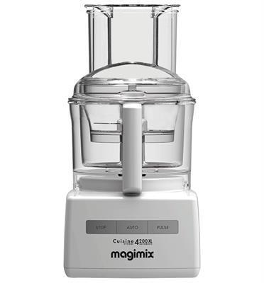 מעבד מזון מקצועי מנוע אינדוקציה 950W תוצרת  MAGIMIX CS-4200JWXL Premium לבן