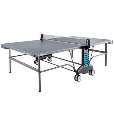 שולחן טניס לשימוש חוץ פלטת אלומניום עבות במיוחד 22 בצבע אפור תוצרת KETTLER דגם OUTDOOR 6
