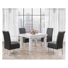 שולחן אוכל מלבני מהודר מעץ מלא משולב פורניר בגימור אפוקסי תוצרת LEONARDO דגם ברנרד