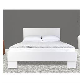 מיטה זוגית 140/190 מעוצבת בסיס המיטה עץ אורן מלא מבית OLIMPYA דגם 7014
