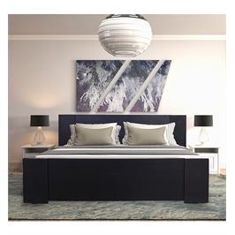 מיטה זוגית מעוצבת בסיס מעץ מלא + מזרן קפיצים מתנה מבית OLIMPYA דגם 7026