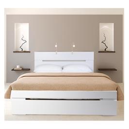 מיטה זוגית מעוצבת בסיס המיטה עץ אורן מלא + מזרן קפיצים מתנה מבית OLIMPYA דגם 7027