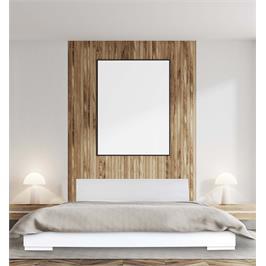 מיטה זוגית מעוצבת בסיס המיטה מעץ מלא מבית OLIMPYA דגם 7029