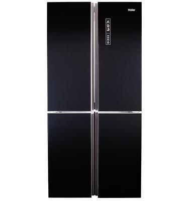 מקרר 4 דלתות  גוון זכוכית שחורה 547 ליטר No Frost תוצרת HAIER דגם HRF555FB